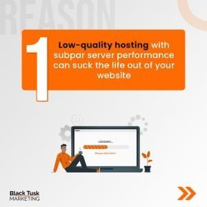 hosting quality affects website speed
